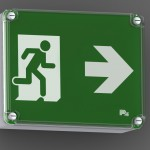 P4 Emergency Exit Sign BETA IP65 wall mounted