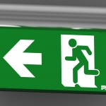 P4 Fastel Emergency Exit Sign OMIKRON Wall mounted square