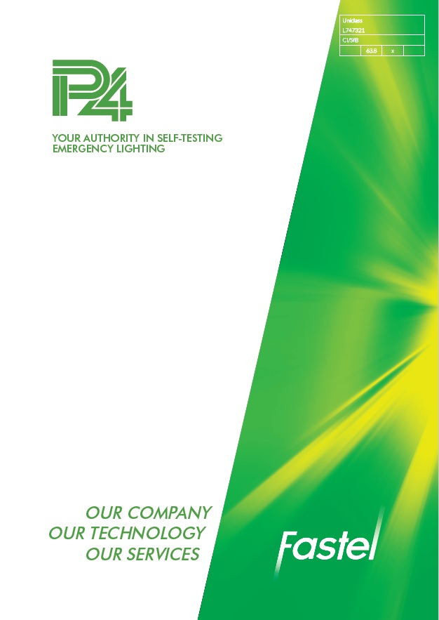 P4 Emergency Lighting Credentials Brochure Cover