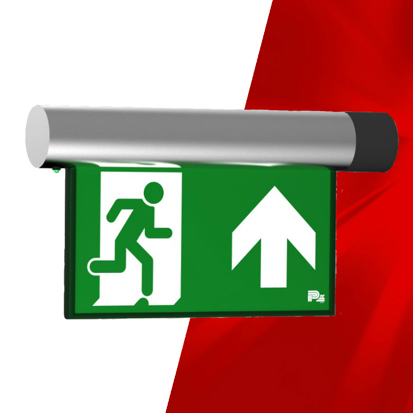 Omikron Flag Emergency Exit Sign
