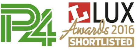 P4 shortlisted for Lux Awards 2016 logo