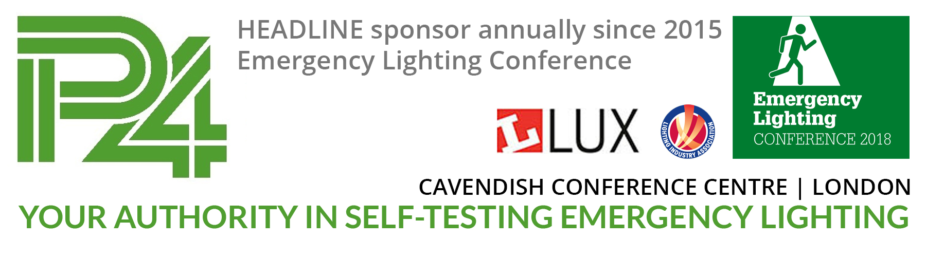 Emergency Lighting Conference P4 Sponsor banner